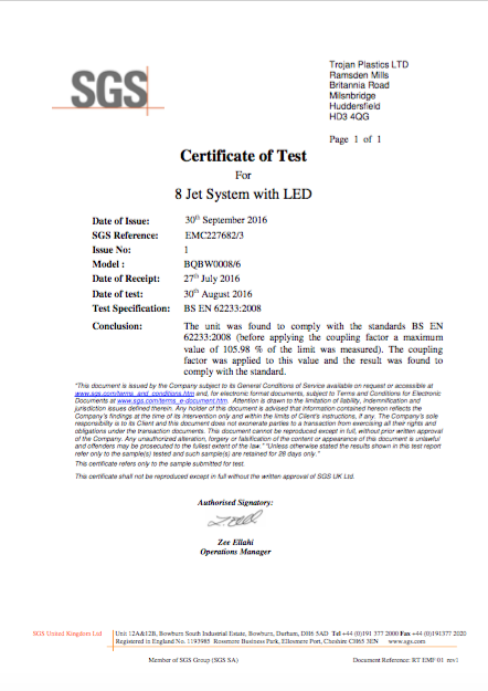 EMF Certificate 8 Jet with LED